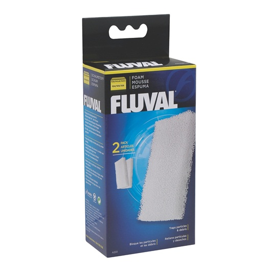 Fluval Foam Filter Block for 104/105/106, 2 pieces A220