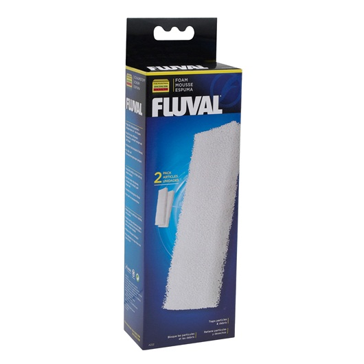 Fluval Foam Filter Block for 204/205/206 and 304/305/306, 2 pieces A222