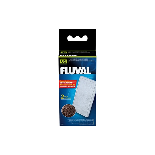 Fluval U2 Filter Media – Poly/Clearmax Cartridge, 2-pack A481