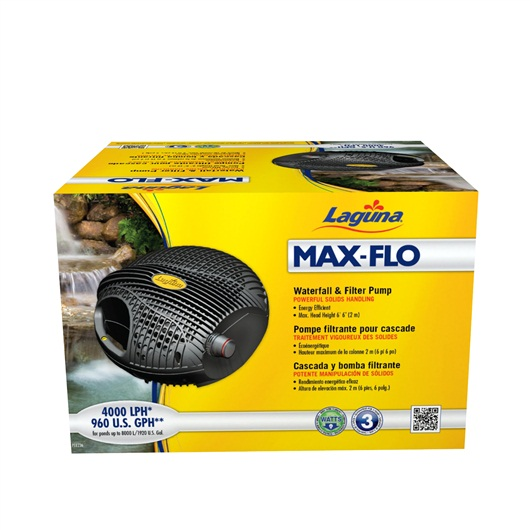 Laguna Max-Flo 4000 Waterfall & Filter Pump, for ponds up to 7300 L PT8236