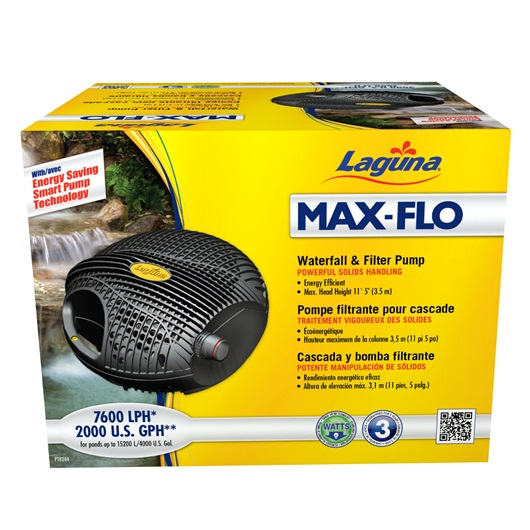 Laguna Max-Flo 7600 Waterfall & Filter Pump, for ponds up to 15000 L PT8244