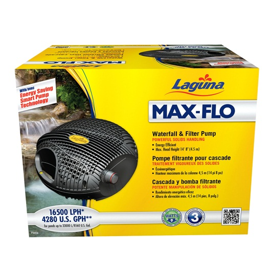 Laguna Max-Flo 16500 Waterfall & Filter Pump, for ponds up to 32400 L PT8256