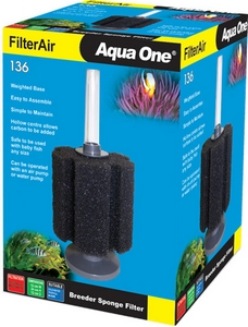 AQUA ONE FILTER AIR 136 BREEDER SPONGE FILTER 19886