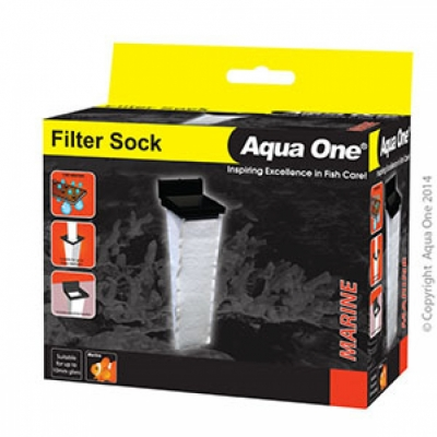 Aqua one Filter Sock 10 W X 10 D X 37cm H Suit Up To 10mm Glass For Sump Systems 50102