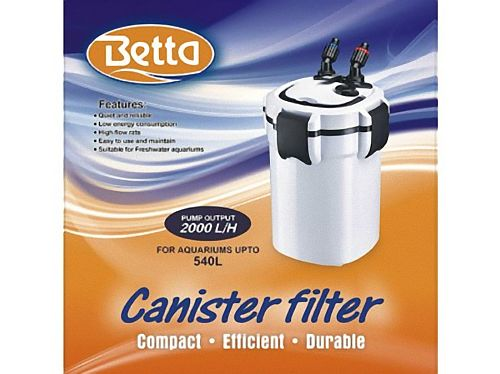 Betta 2000 EXTERNAL FILTER Upto 540L Aquariums