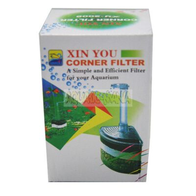 ISTA Triangle Air Filter with Filter Mat, Filter Fleece and Gravel for Nano Aquarium FA030